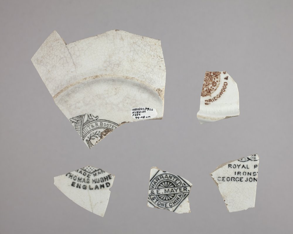 Dish Sherds with Maker's Marks from Constitution Hall, 14DO321 - 1