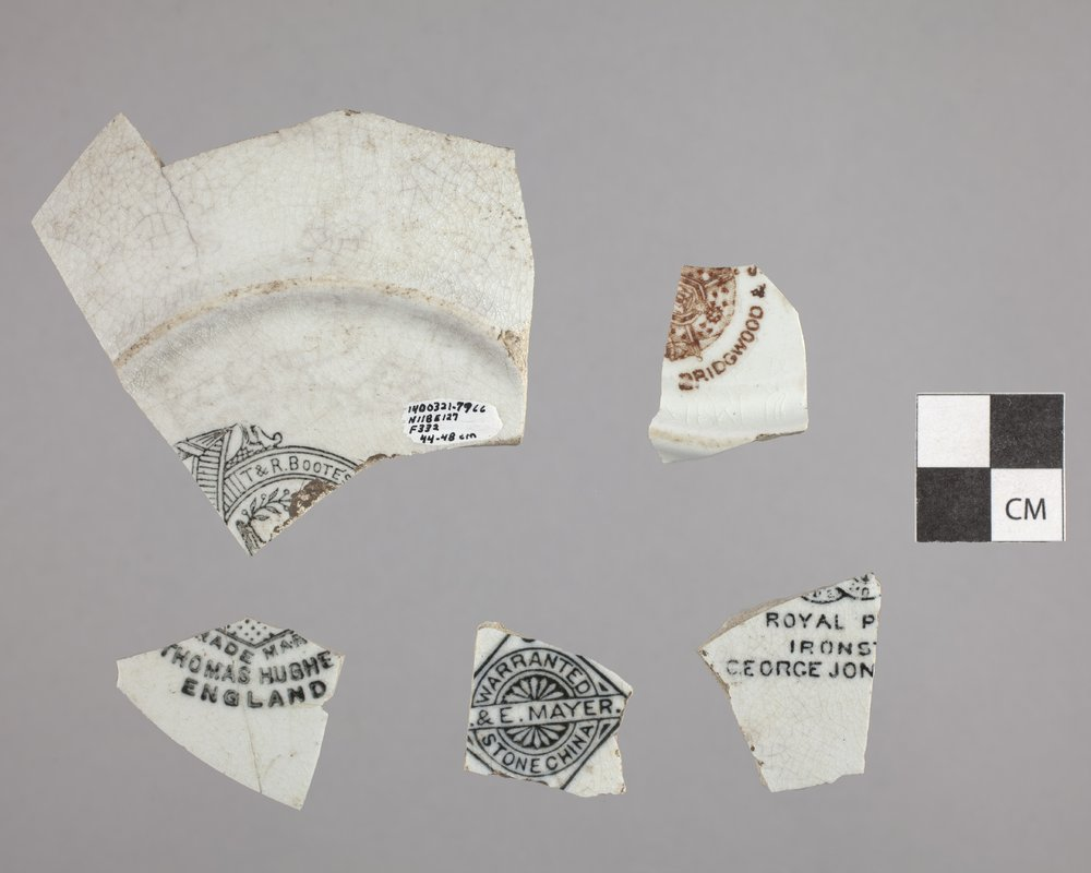 Dish Sherds with Maker's Marks from Constitution Hall, 14DO321 - 2