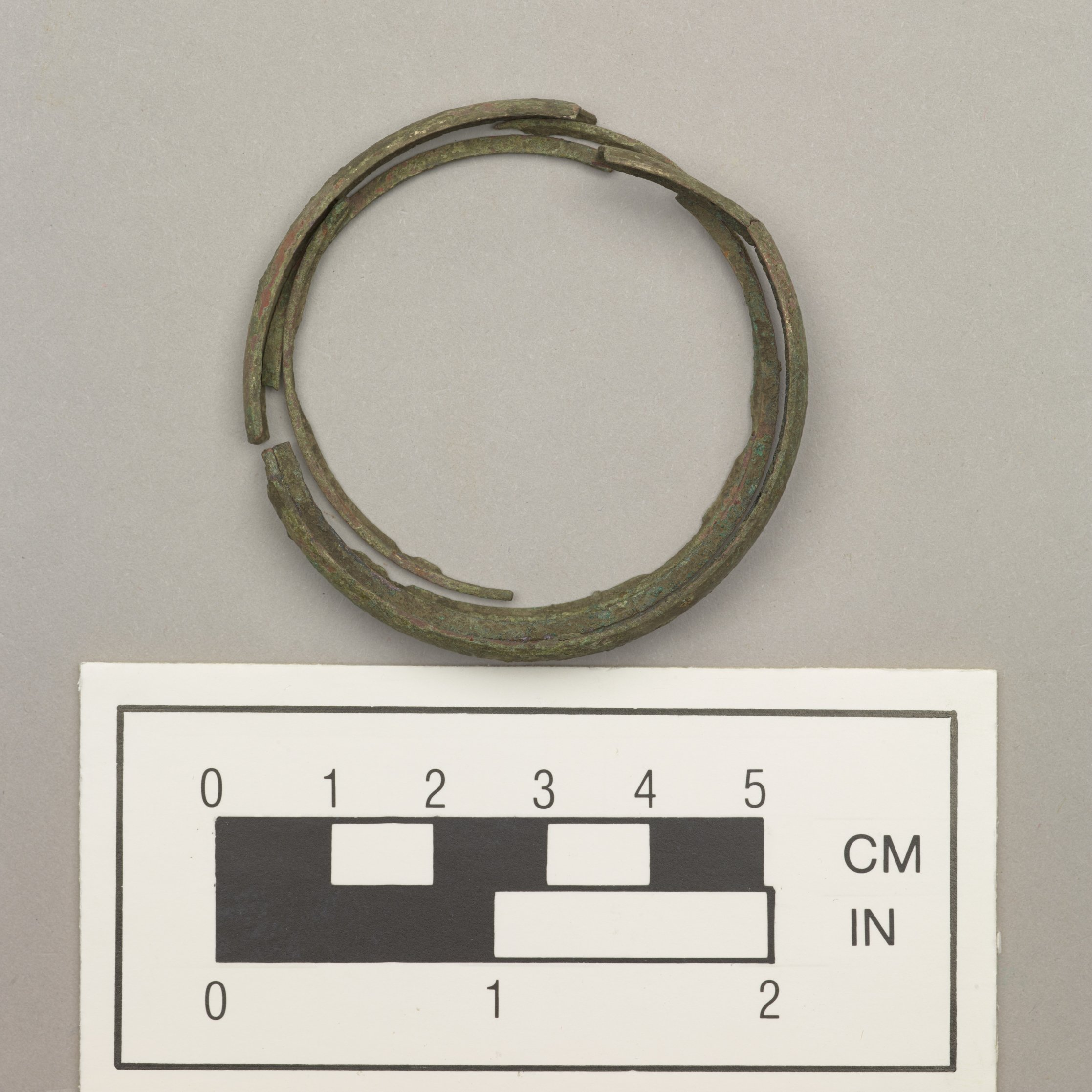 Brass Bracelet from the Mahaffie Farmstead and Stagecoach Stop, 14JO356 - 3