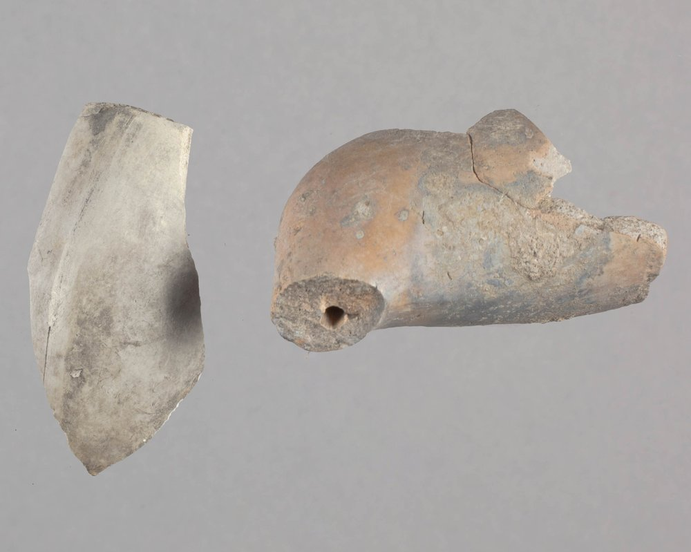Clay Pipes from Fort Zarah, 14BT301 - 1