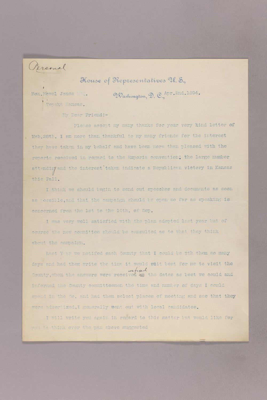 Charles Curits correspondence, 1894 - 3 April 02, 1894