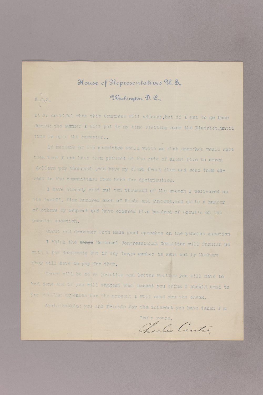 Charles Curits correspondence, 1894 - 4 April 02, 1894