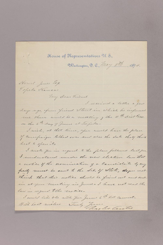 Charles Curits correspondence, 1894 - 5 May 08, 1894