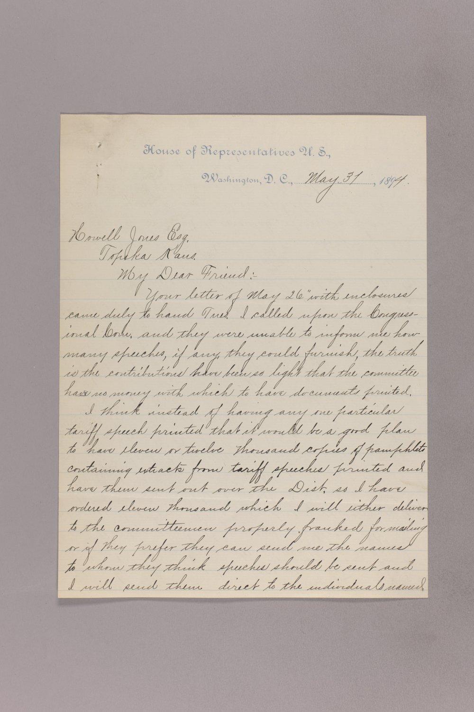 Charles Curits correspondence, 1894 - 6 May 31, 1894