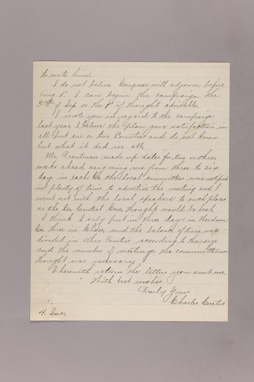 Charles Curits correspondence, 1894 - 9 May 31, 1894