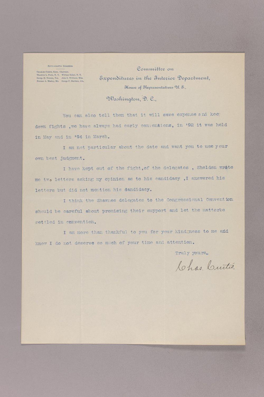 Charles Curtis correspondence, 1895-1896 - 8 Janaury 31, 1896