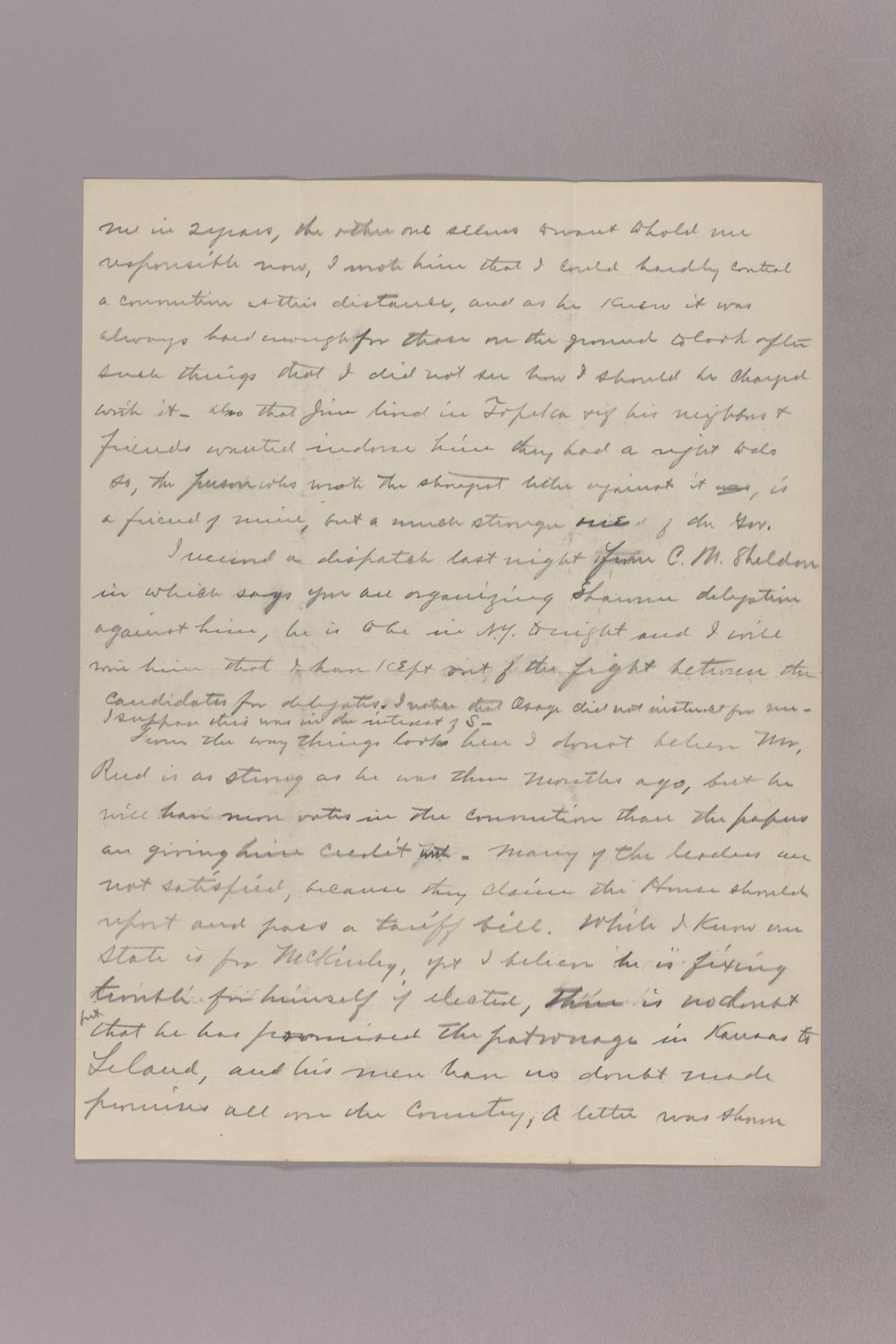 Charles Curtis correspondence, 1895-1896 - 12 March 08, 1896