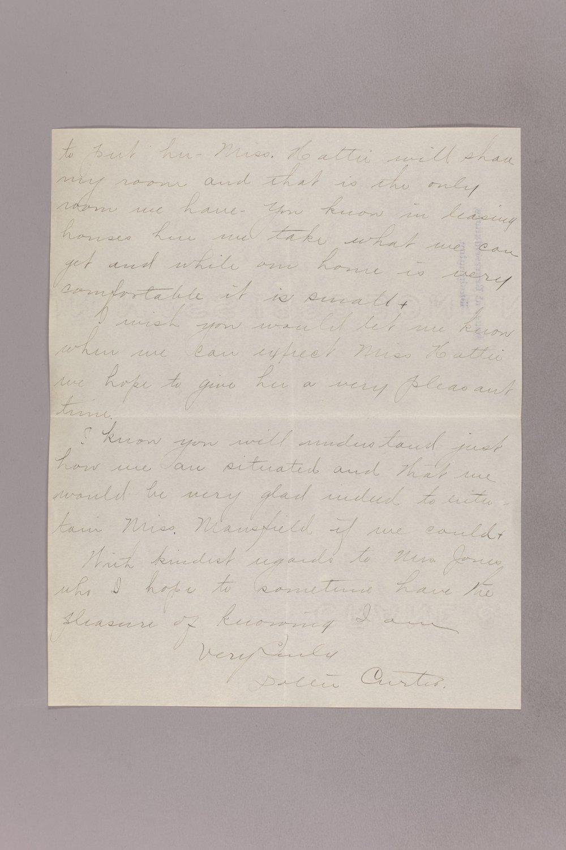 Dollie Gann Curtis correspondence - 2