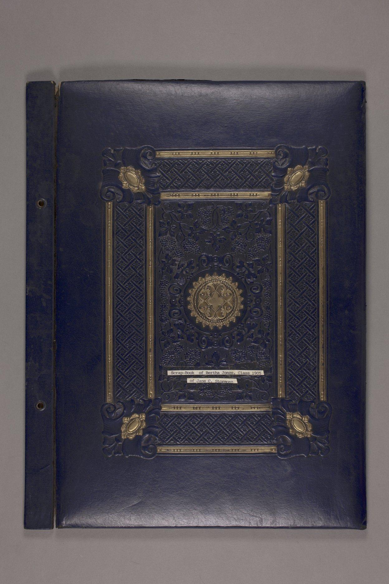 Bertha Jones scrapbook - 1 Front cover