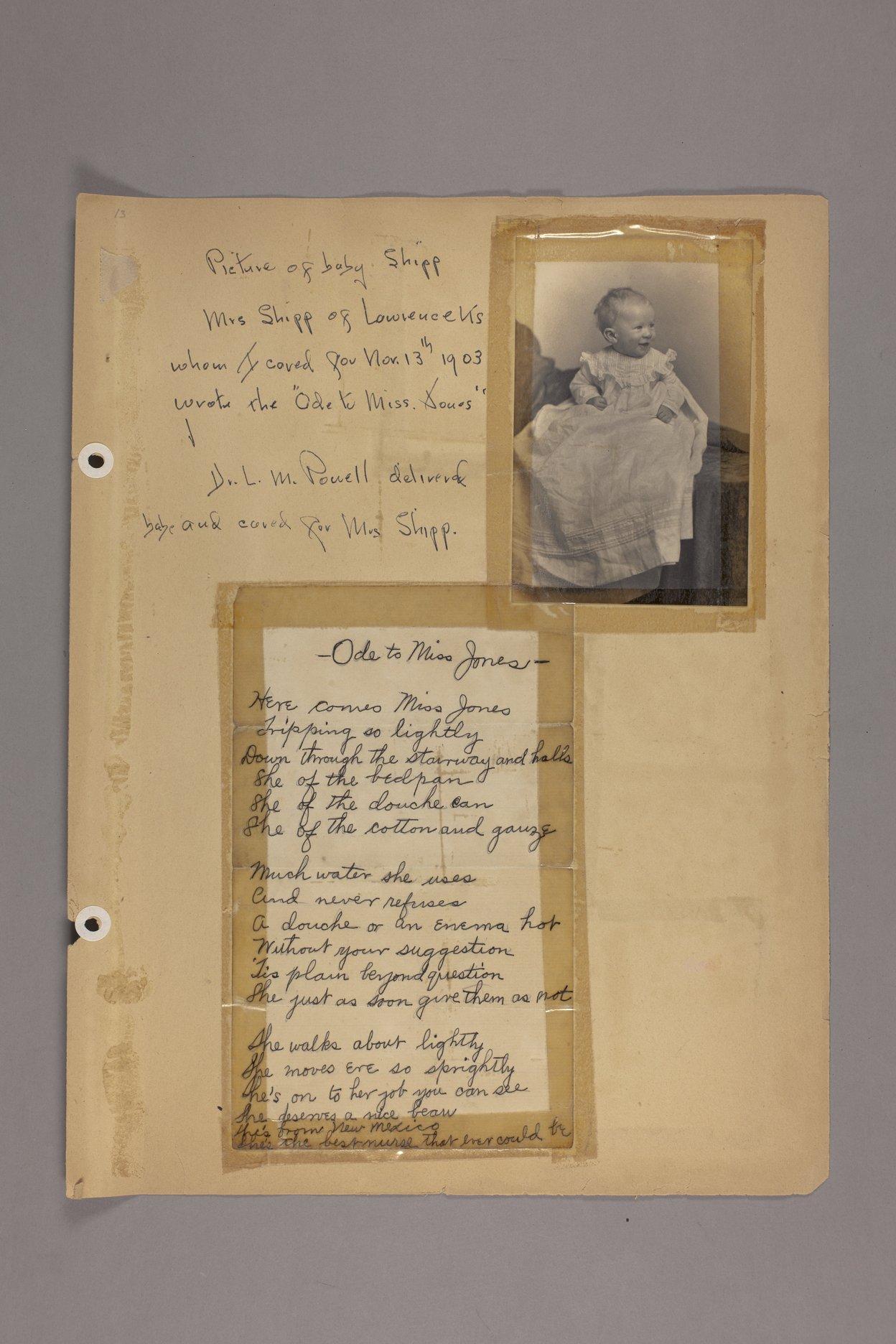 Bertha Jones scrapbook - 6 Ode to Miss Jones