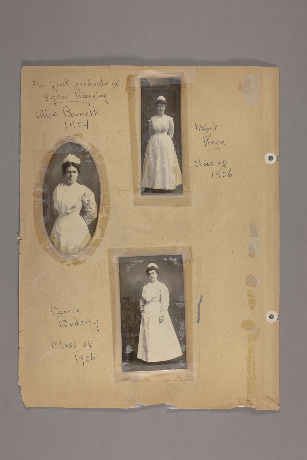 Bertha Jones scrapbook - 11 Photographs: Barnett, Heyn, Badsiy