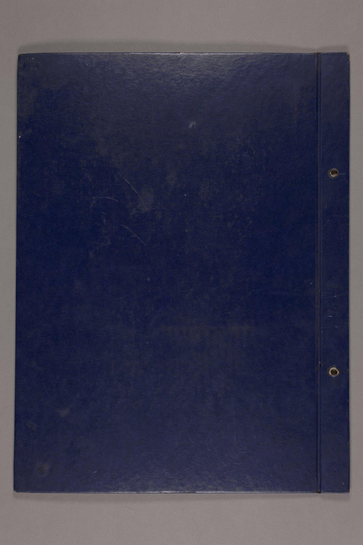 Bertha Jones scrapbook - 106 Back cover