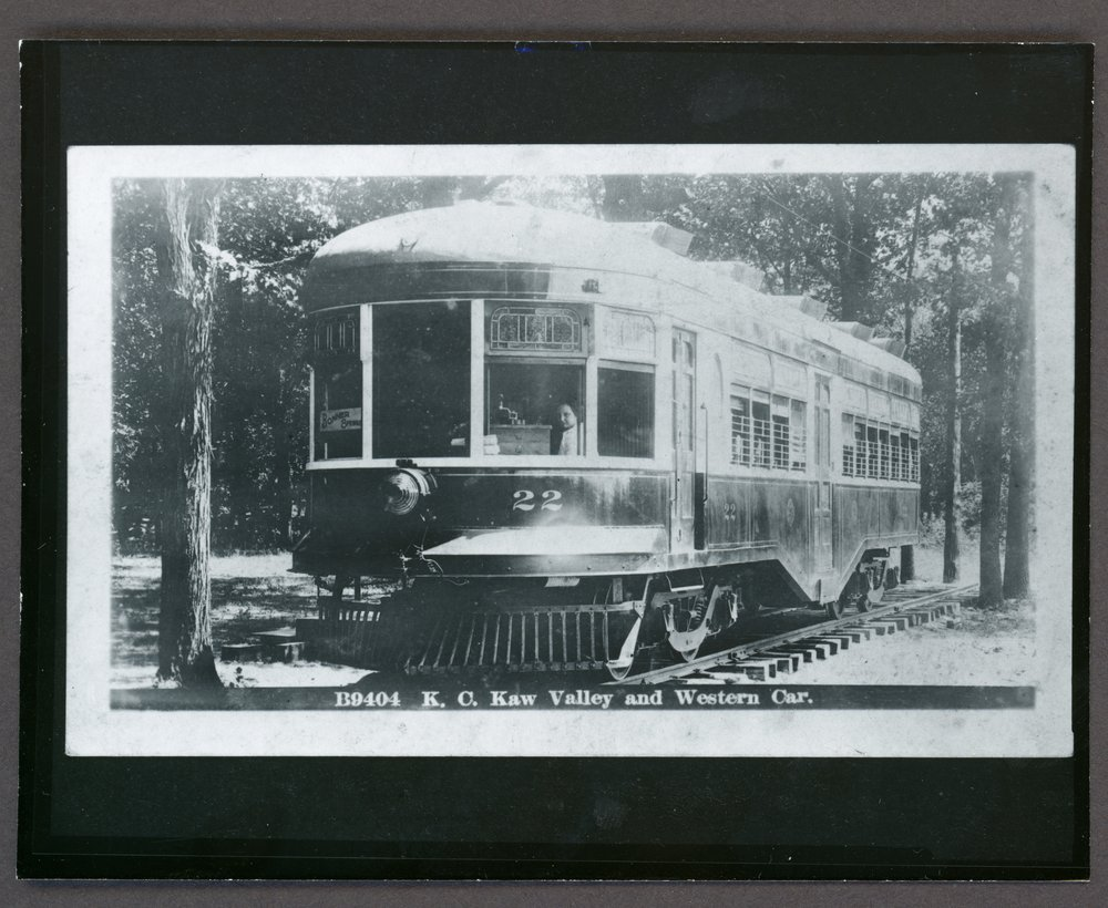 B9404 K. C. Kaw Valley and Western Car number 22 - Negative
