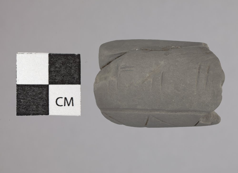 Limestone Pipe Bowl from the Radio Lane Site, 14CO385 - 2
