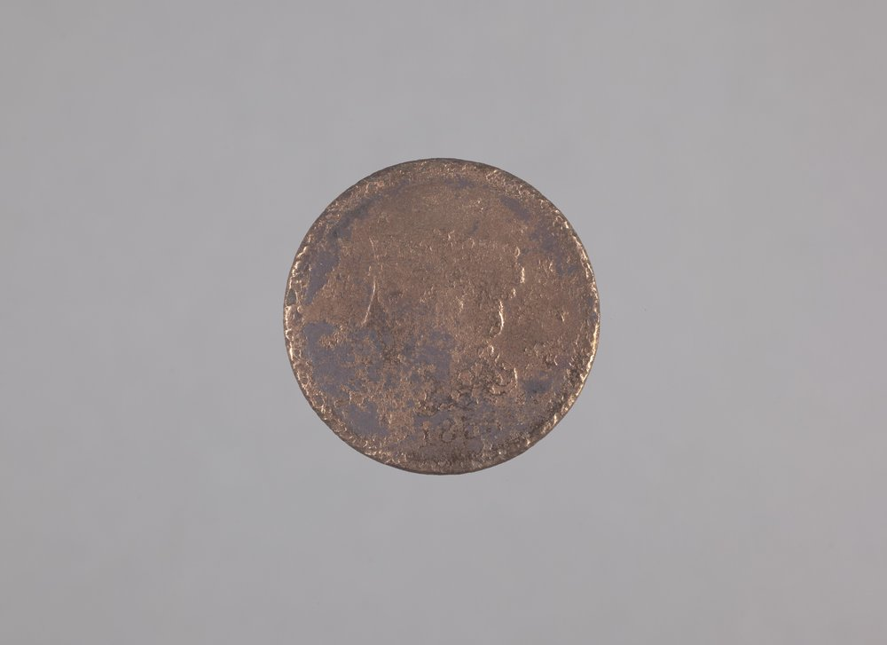 1856 One-Cent Coin from the Canville Trading Post, 14NO396 - 1