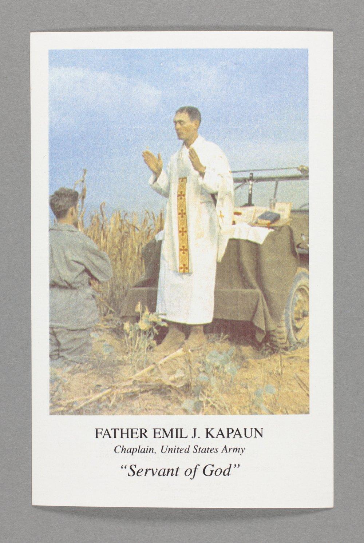 Father Kapaun prayer card - Front