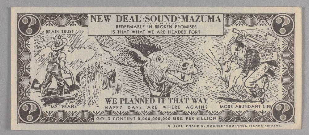 Anti-New Deal handbill - Front