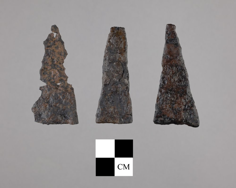 Metal Arrow Points from the 102 Steel Point Site, 14MO414 - 2