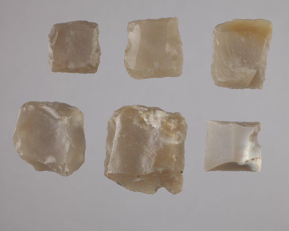 French Gunflints from the 102 Steel Point Site, 14MO414 - 1