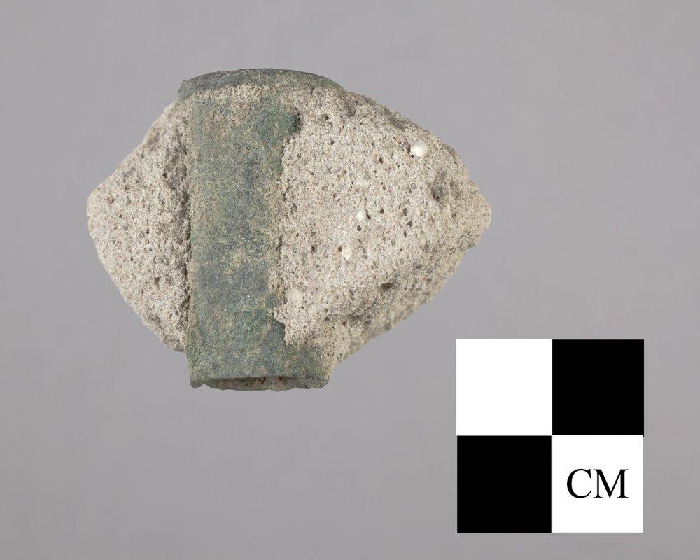 Bullet Casing Encased in Plaster from Fort Zarah, 14BT301 - 2