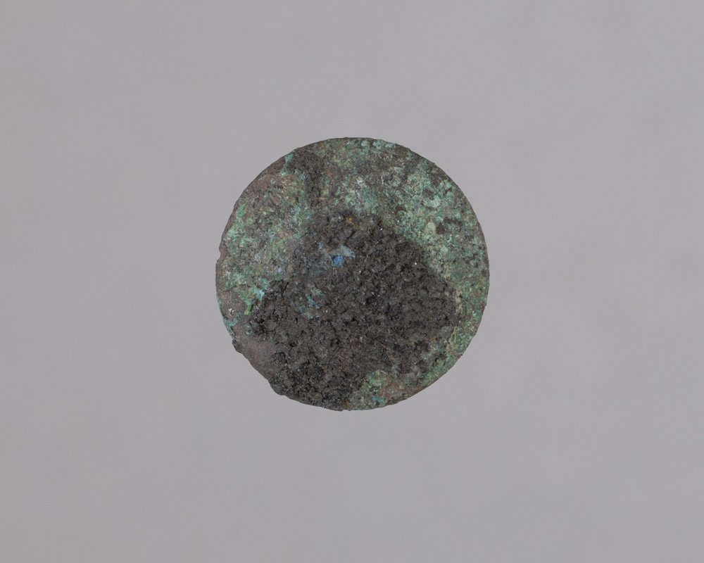 Cloth Covered Button from Fort Zarah, 14BT301 - 1