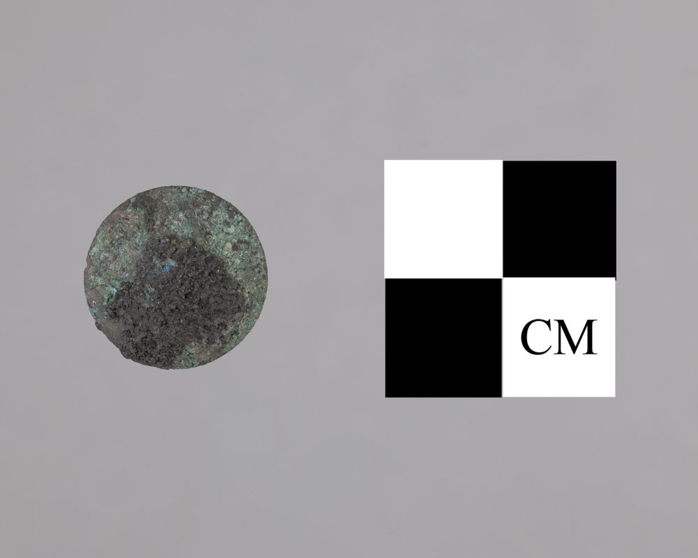 Cloth Covered Button from Fort Zarah, 14BT301 - 2