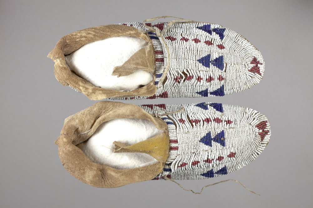 Beaded Moccasins - 1