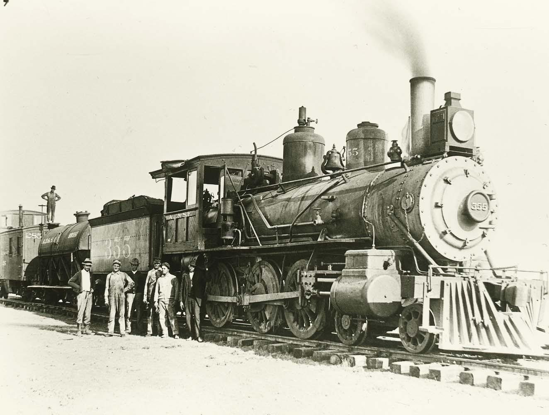 Atchison, Topeka & Santa Fe Railway Company's steam locomotive #355