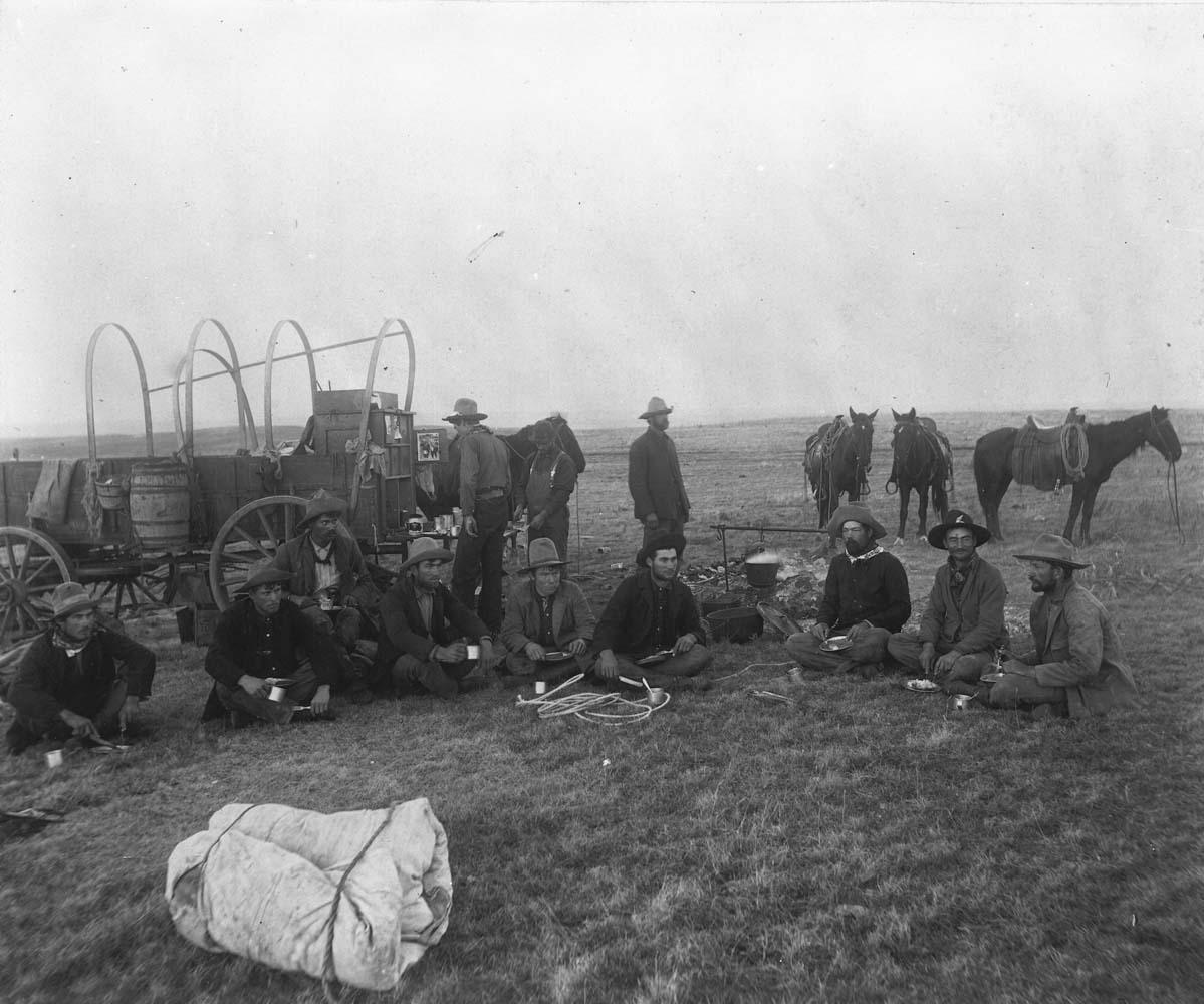 Three Block chuck wagon near Ashland, Kansas