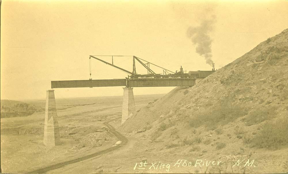 Atchison, Topeka & Santa Fe Railway Company's bridge girder, Abo Canyon, New Mexico