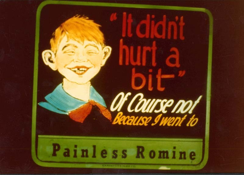 Painless Romine advertisement