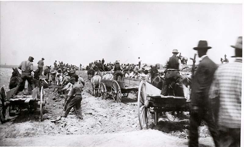 Road construction, Beloit, Kansas