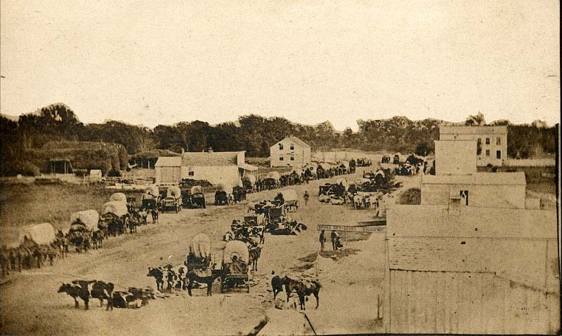 Covered wagons, Manhattan, Kansas