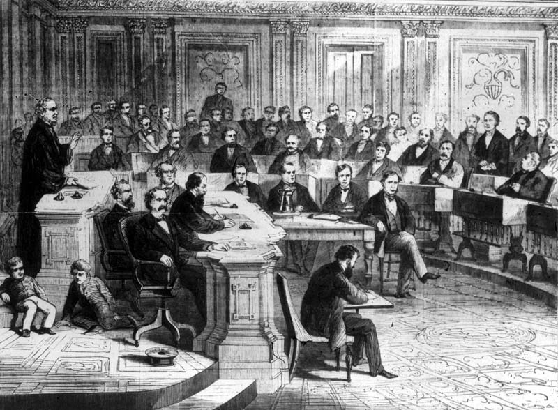 President Andrew Johnson Impeachment Votes Kansas Memory Kansas Historical Society