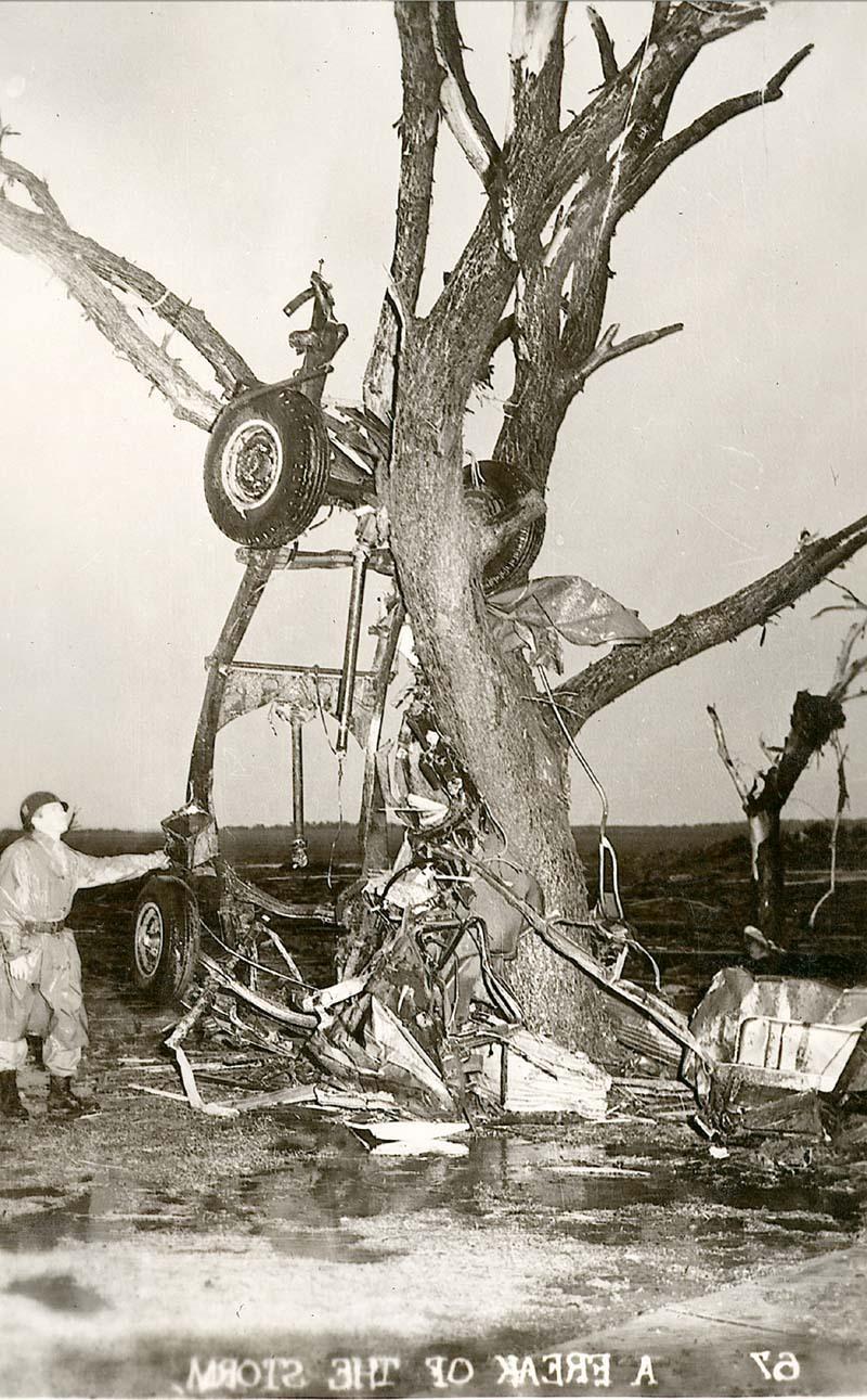 Tornado damage in Udall, Kansas