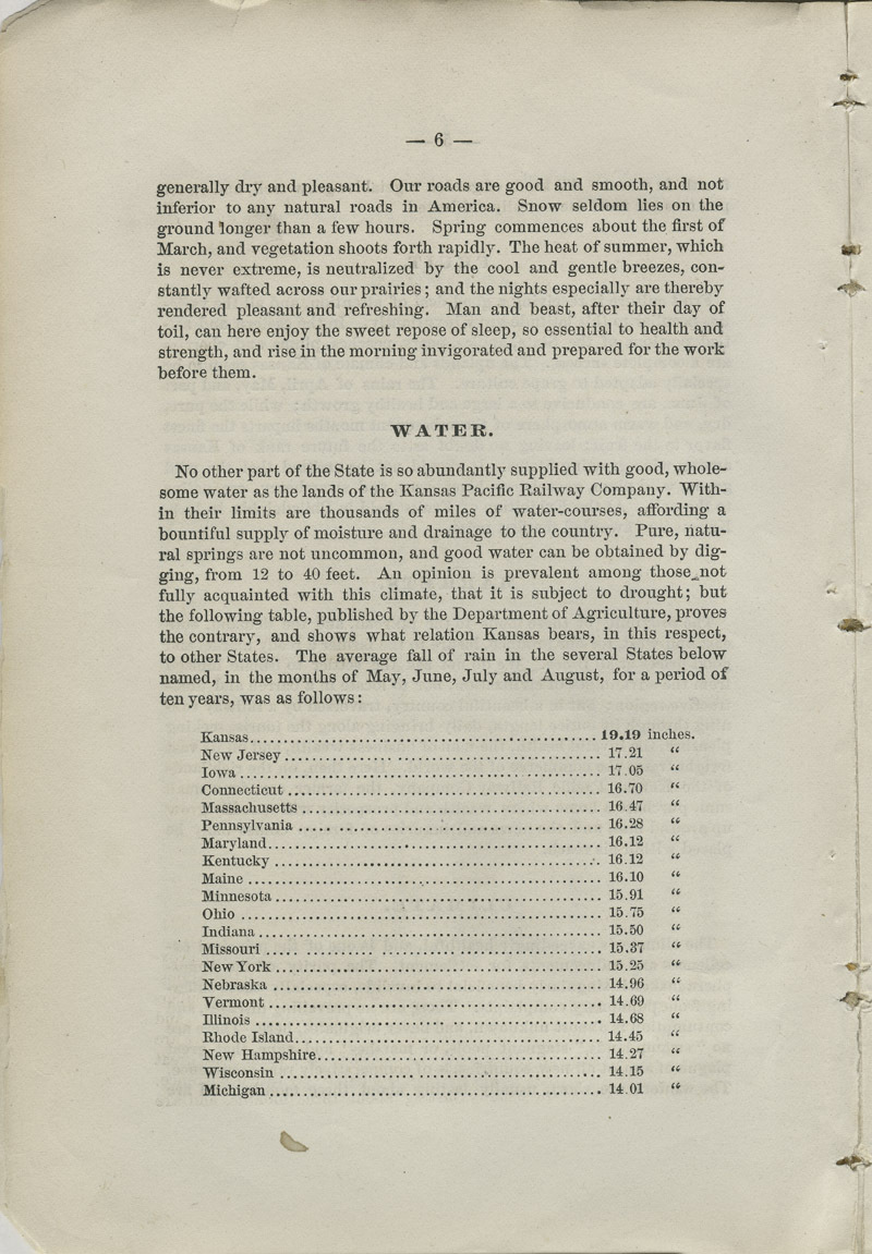 Emigrants' guide to the Kansas Pacific Railway lands : best and cheapest farming and grazing lands in America - pg. 6