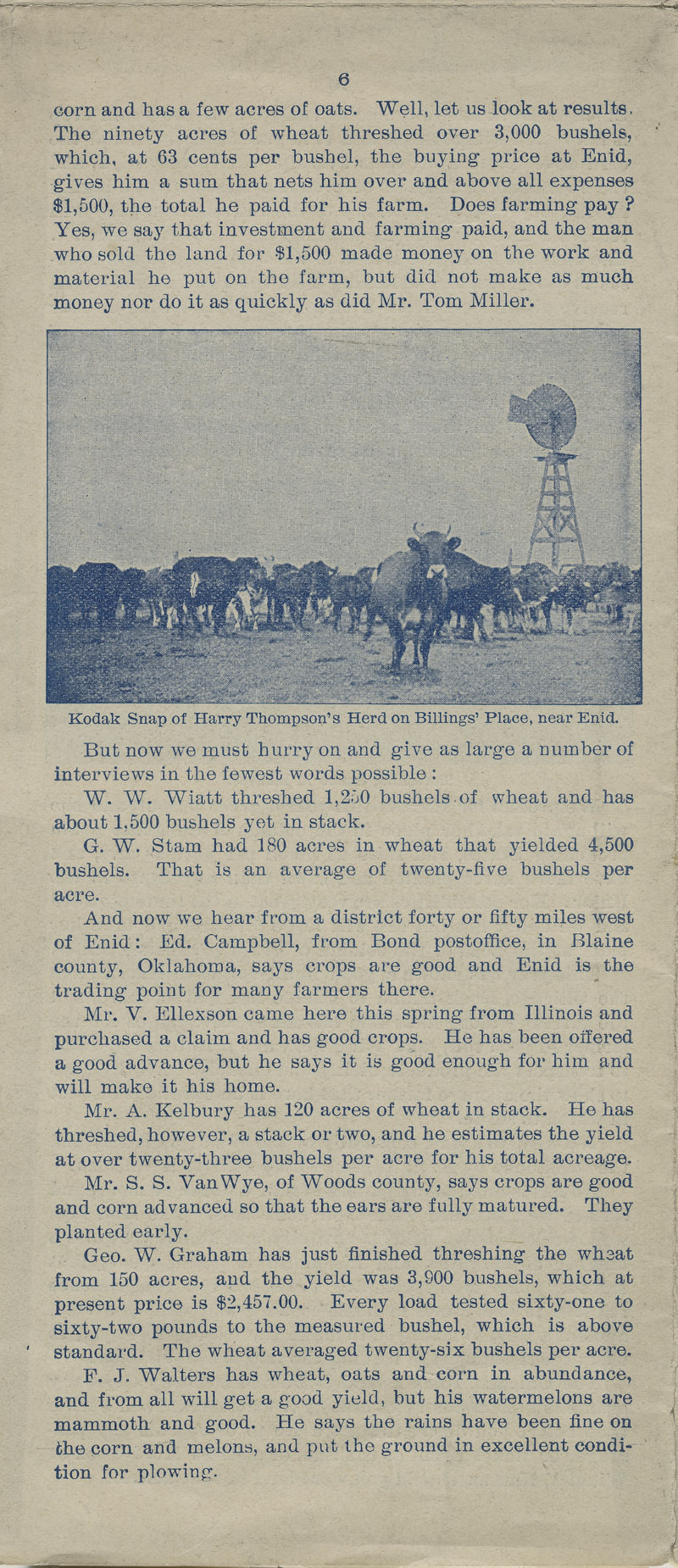 A farm out west.  Emigration folder of the great Rock Island route - pg. 6