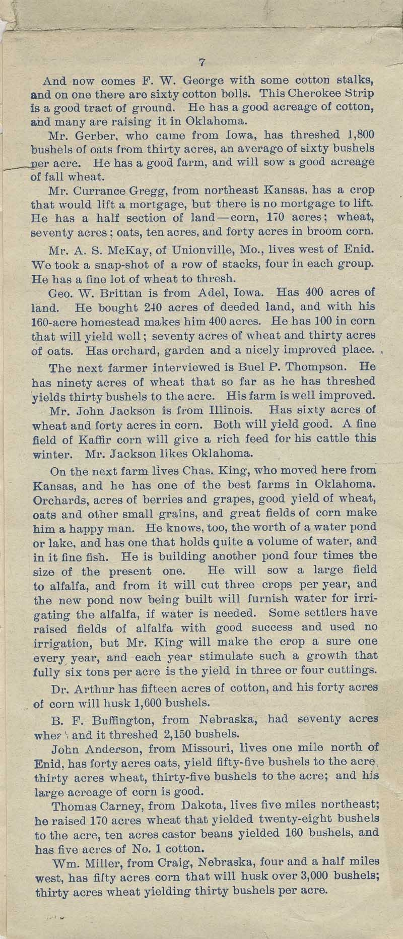 A farm out west.  Emigration folder of the great Rock Island route - pg. 7
