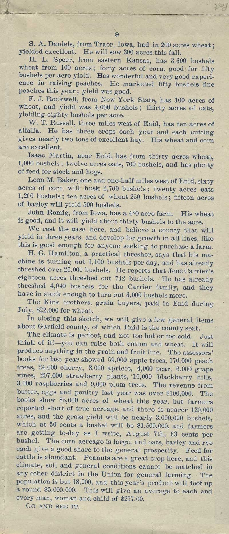 A farm out west.  Emigration folder of the great Rock Island route - pg. 9