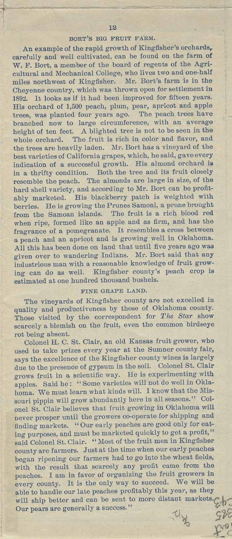 A farm out west.  Emigration folder of the great Rock Island route - pg. 12