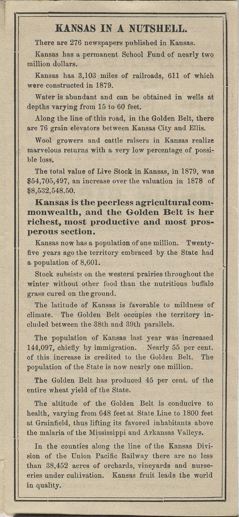 Immigrants' guide to the most fertile lands of Kansas - pg. [4]
