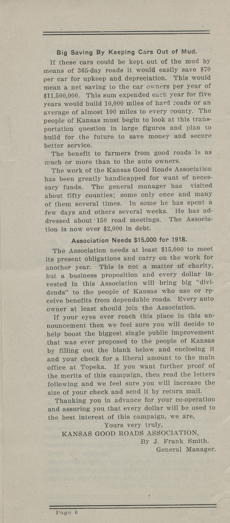 Annual report : Kansas Good Roads Association - pg. 6