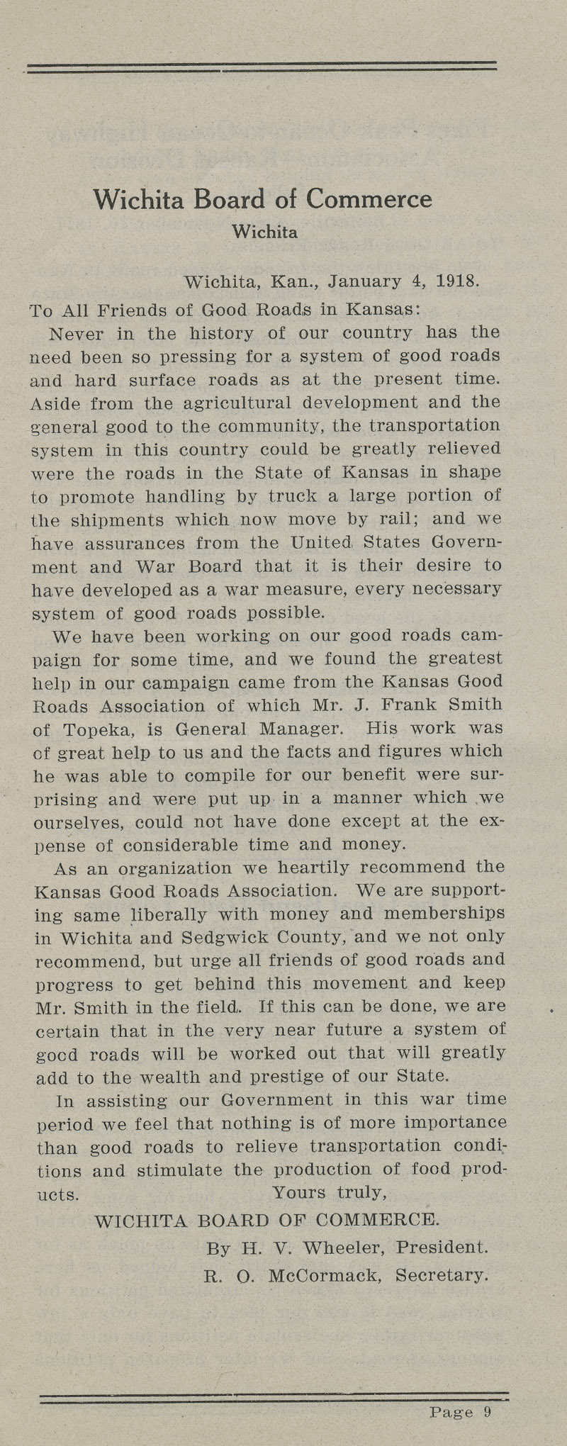 Annual report : Kansas Good Roads Association - pg. 9