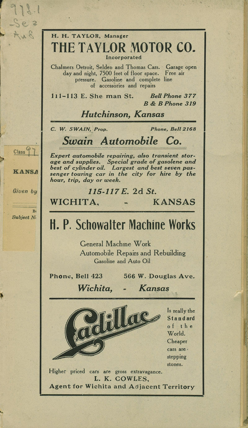 Automobile Club of Wichita Year Book - ad [1]