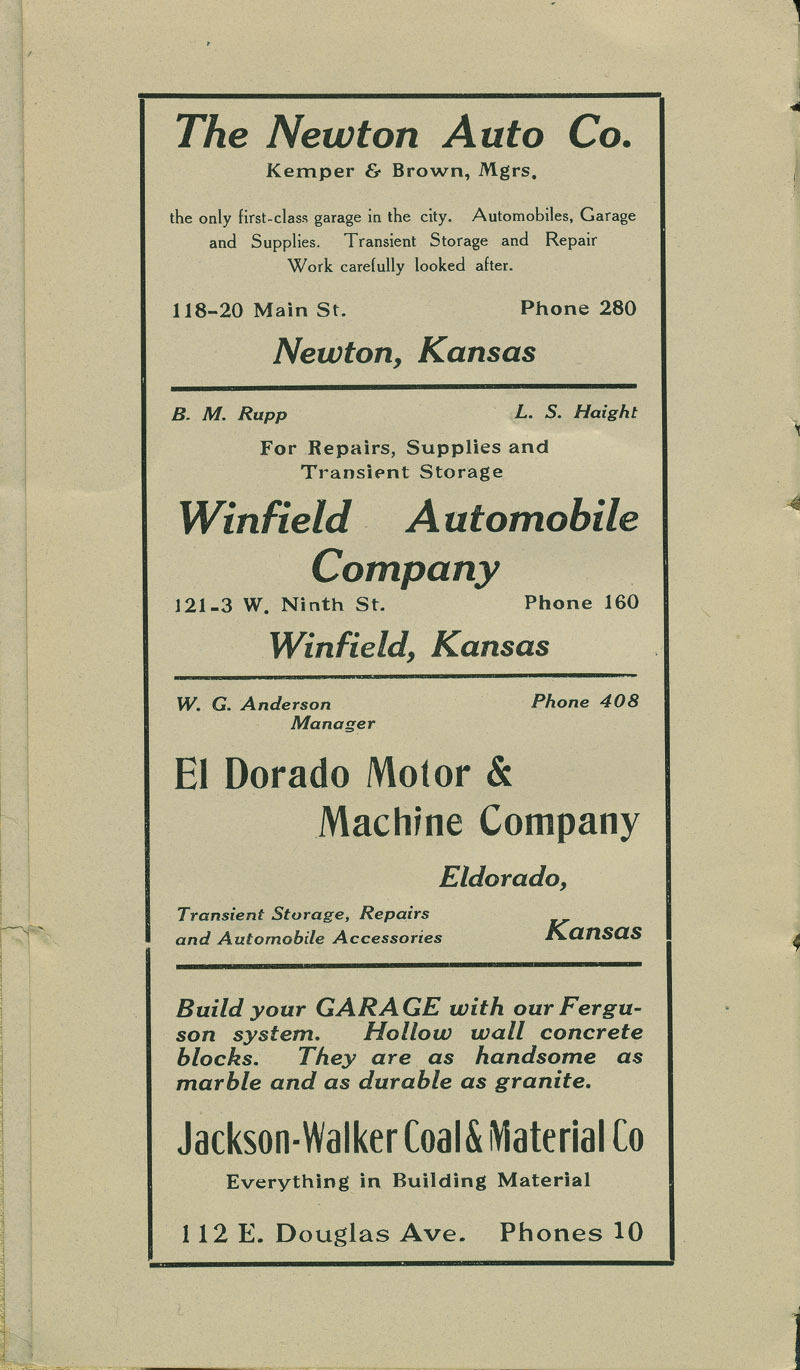 Automobile Club of Wichita Year Book - ad [2]