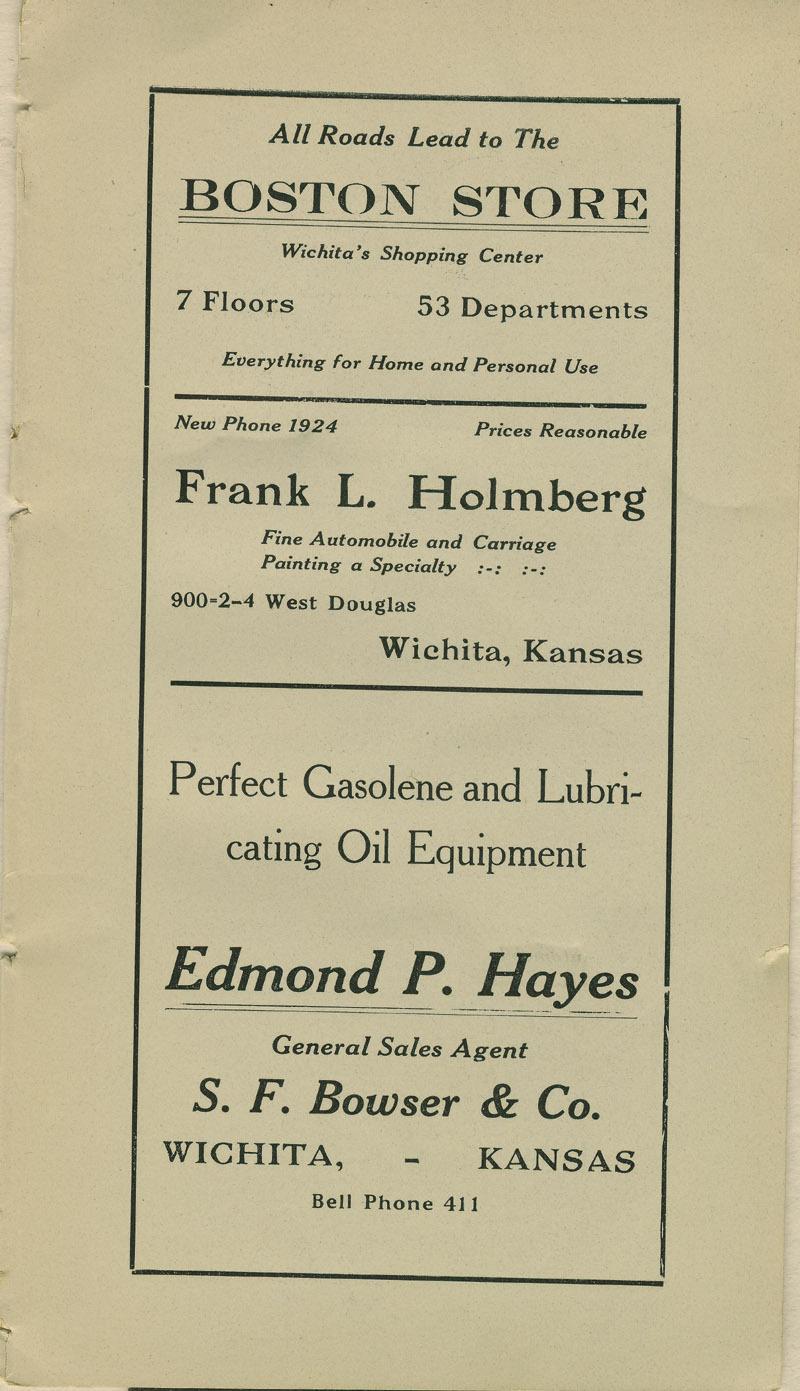 Automobile Club of Wichita Year Book - ad [3]