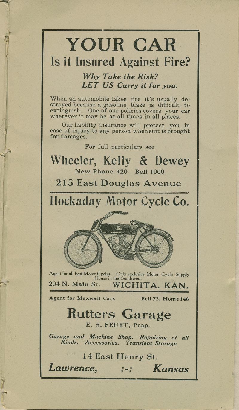 Automobile Club of Wichita Year Book - ad [7]