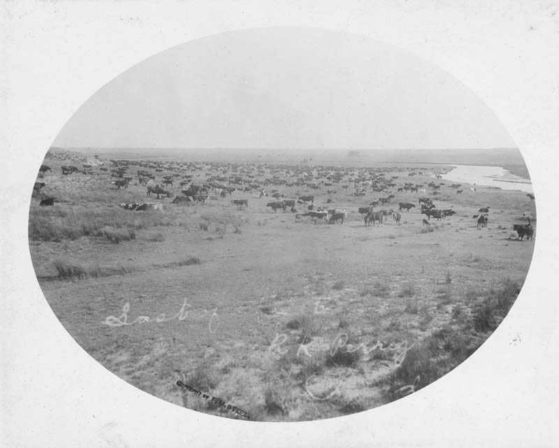 R. K. Perry ranch on the Cimarron River, Kansas
