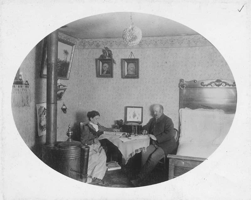 F. J. Birdsall's parlor in Custer, Oklahoma Territory