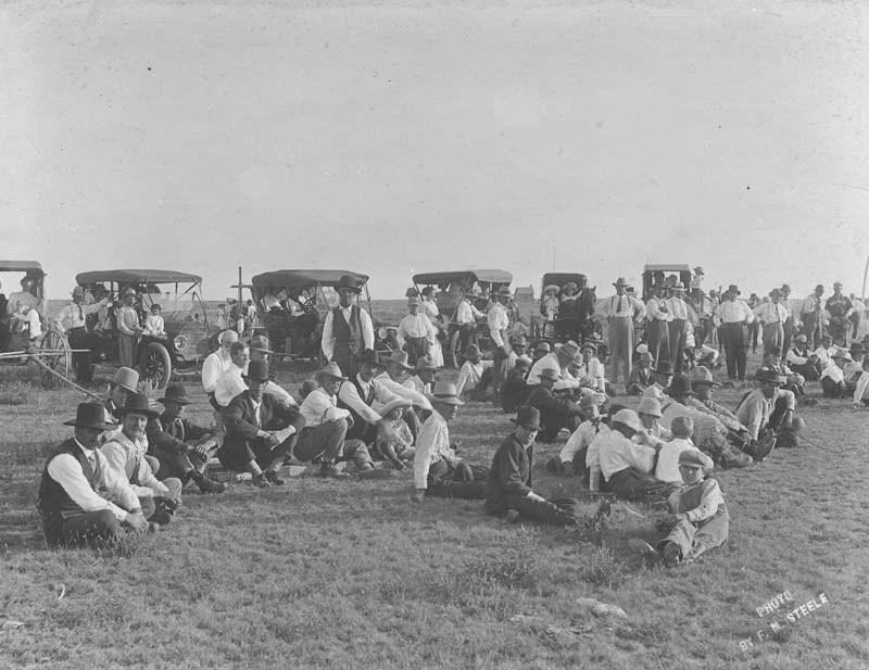 Spectators at a baseball game